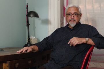 Amitav Ghosh at home in Brooklyn.